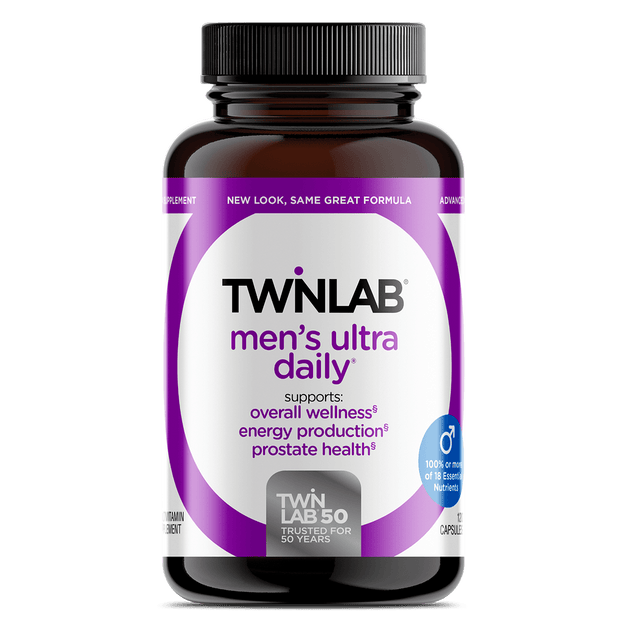 Twinlab Men's Ultra Daily Multivitamin Supplement is mainly formulated to support a healthy prostate, overall wellness, energy, and enhanced stamina.