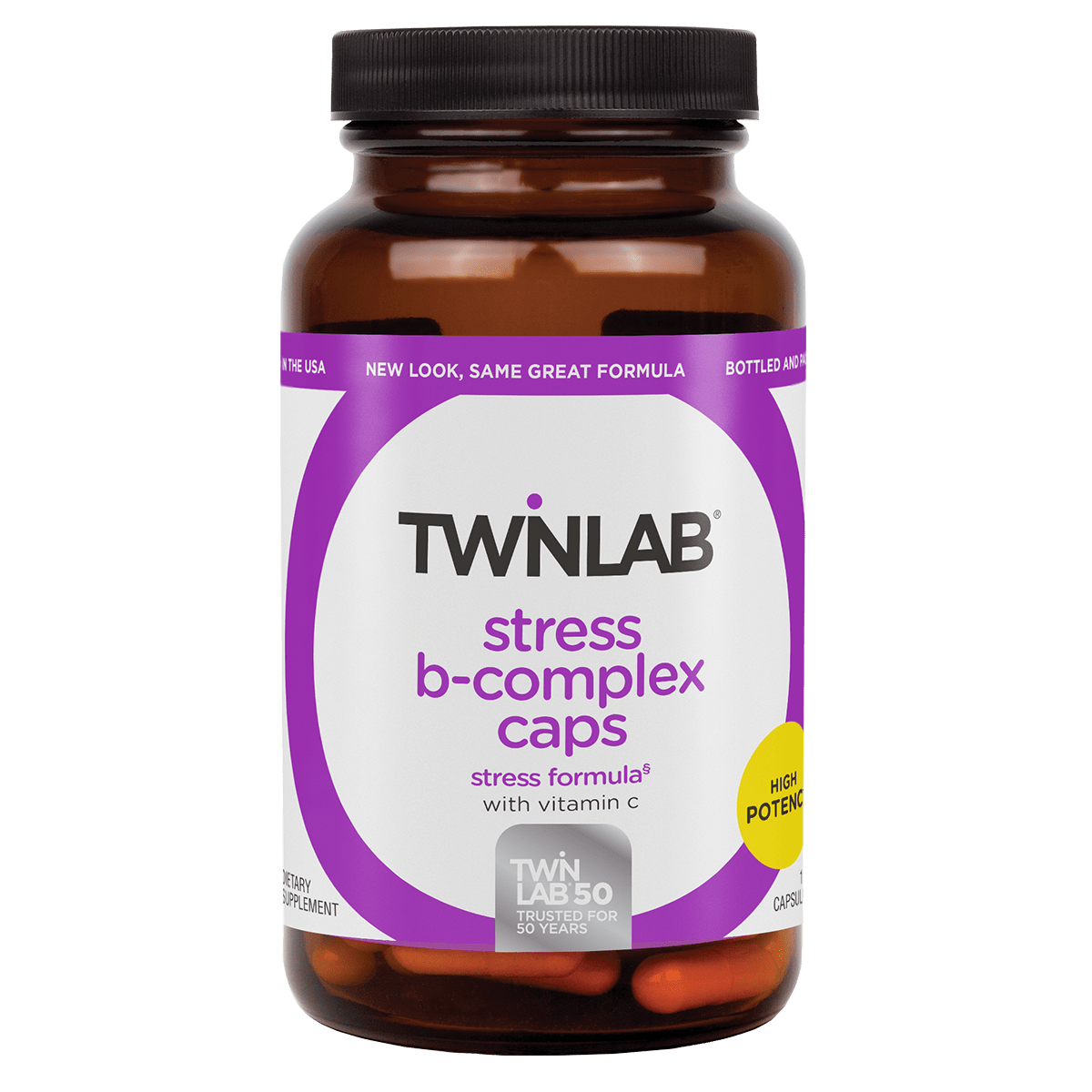 Just 2 capsules a day of Stress B-Complex 100 Count Caps helps counter negative effects of Stress.