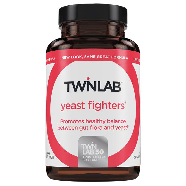 Twinlab® Yeast Fighters supports the digestive system and maintains a healthy intestine.