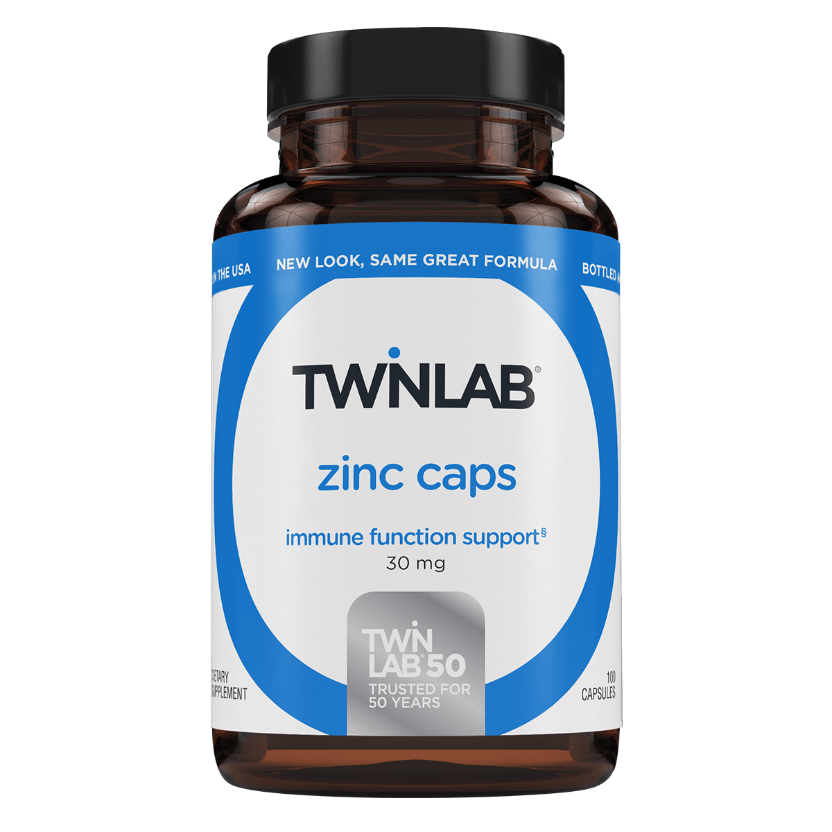 Twinlab® Zinc Caps deliver 30 mg of this essential mineral in just one capsule a day.