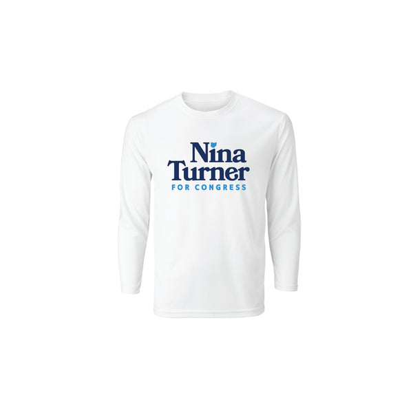 Nina Turner Long Sleeve Tee - White