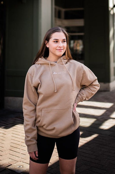 Basics - Sandstone SHE IS Hoodie