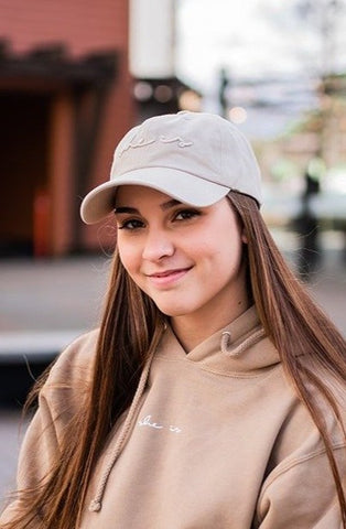 Basics - SHE IS Dad Hat Stone