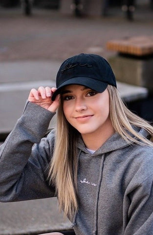 Basics - SHE IS Dad Hat Black
