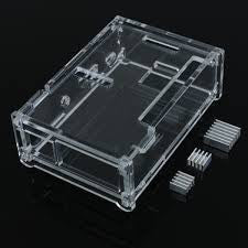 Free Shipping New Quality Transparent Box for Raspberry Pi B Plus with  3 heat sink , Casing - My Little Store, My Little Store - 1