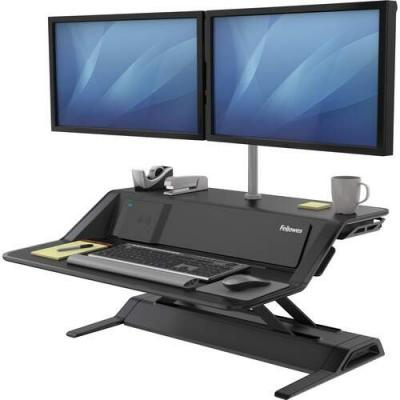 Fellowes Lotus DX Sit-Stand Workstation, 32.75w x 24.25d x 22.5h, Black