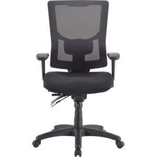 Lorell Conjure Executive High-back Mesh Back Chair -Black Seat - Black Back