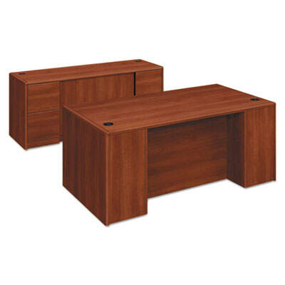 HON 10700 Double Pedestal Desk with Full Pedestals, 72w x 36d x 29.5h, Cognac (10799CO)