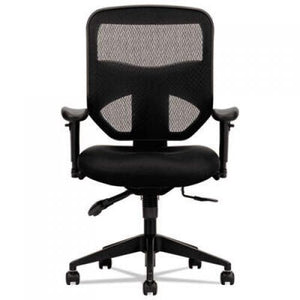 HON VL532 Mesh High-Back Task Chair, up to 250 lbs., Black Seat, Black Back, Black Base