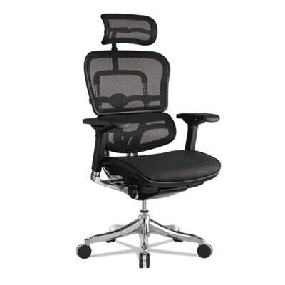 Eurotech Ergohuman Elite High-Back Chair, , Black Seat/Black Back, Black Base, Ergonomic