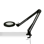 CANYON HOME 23.5-in Adjustable Magnifying Black Clip Desk Lamp
