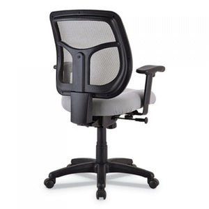 Eurotech Apollo Mid-Back Mesh Chair, Silver Seat/Silver Back, Silver Base
