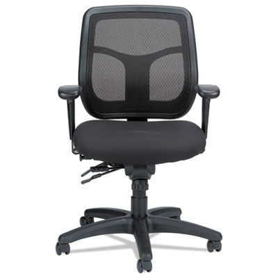 Eurotech Apollo Multi-Function Mesh Task Chair, Supports up to 250 lbs., Silver Seat/Silver Back, Black Base