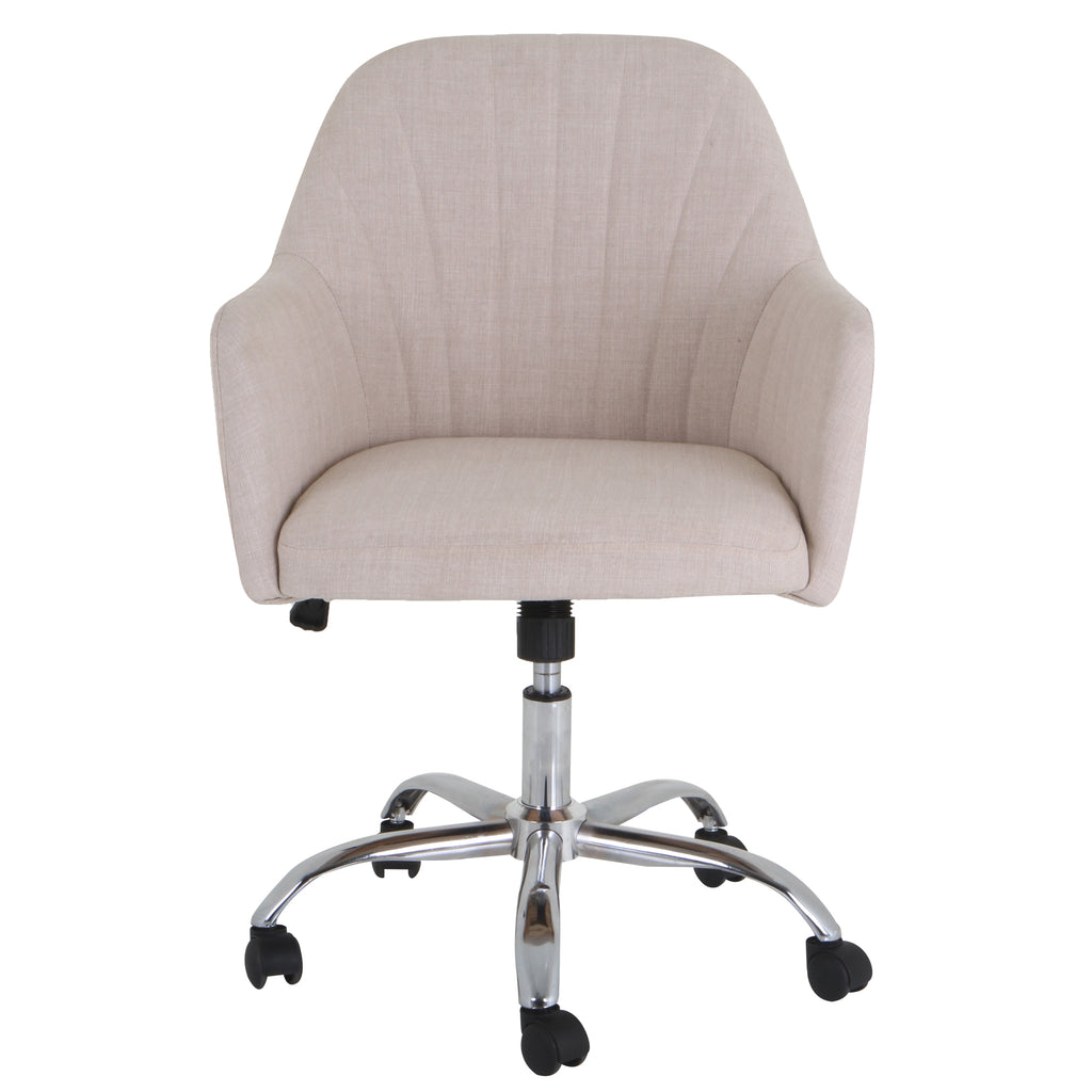 Grand&Eight NATURE Upholstered Task Chair in Ivory White