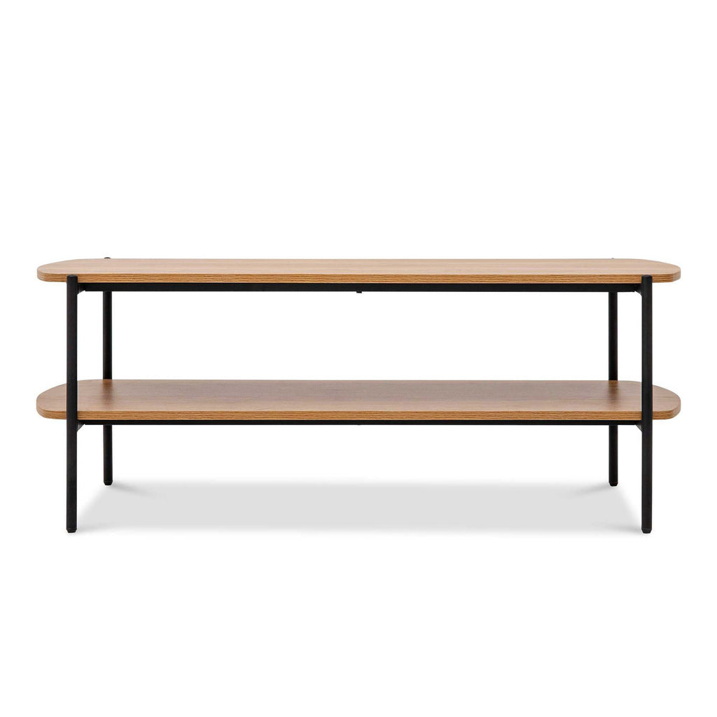 Monster Living Querencia Acacia 18 in. Retangular Coffee Table with Storage Shelf for Living Room