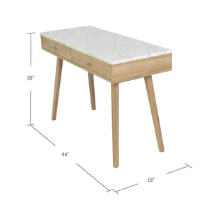The Bianco Collection 44-in White Modern/Contemporary Elm Writing Desk