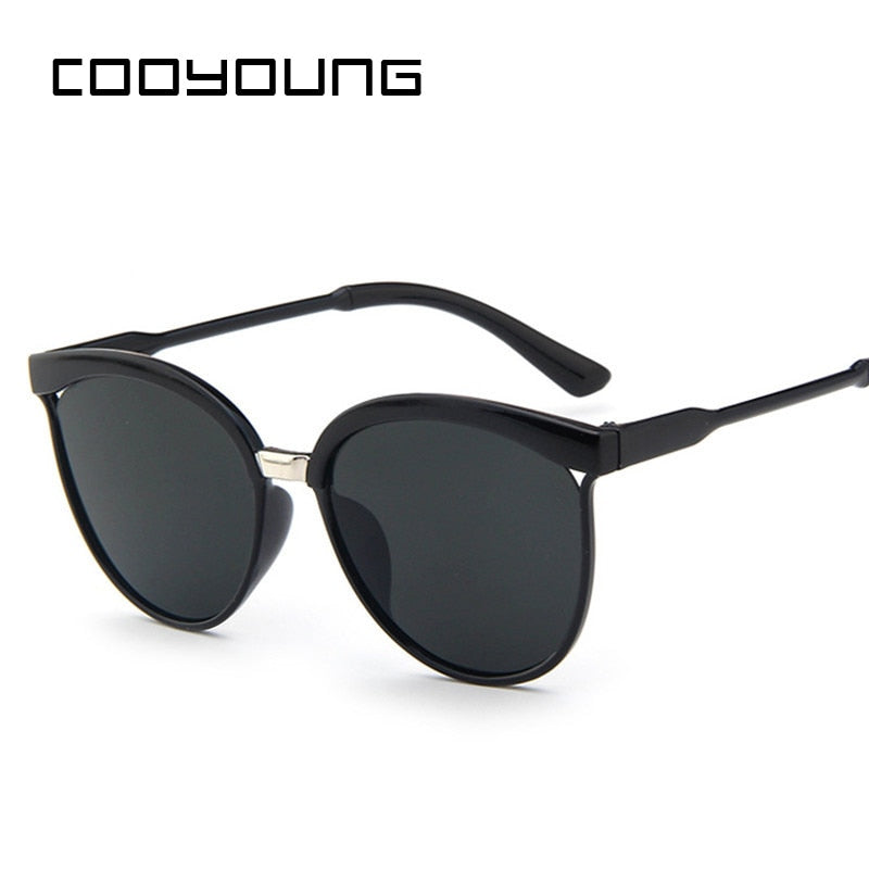 COOYOUNG Cat Eye Sunglasses Women Brand Designer