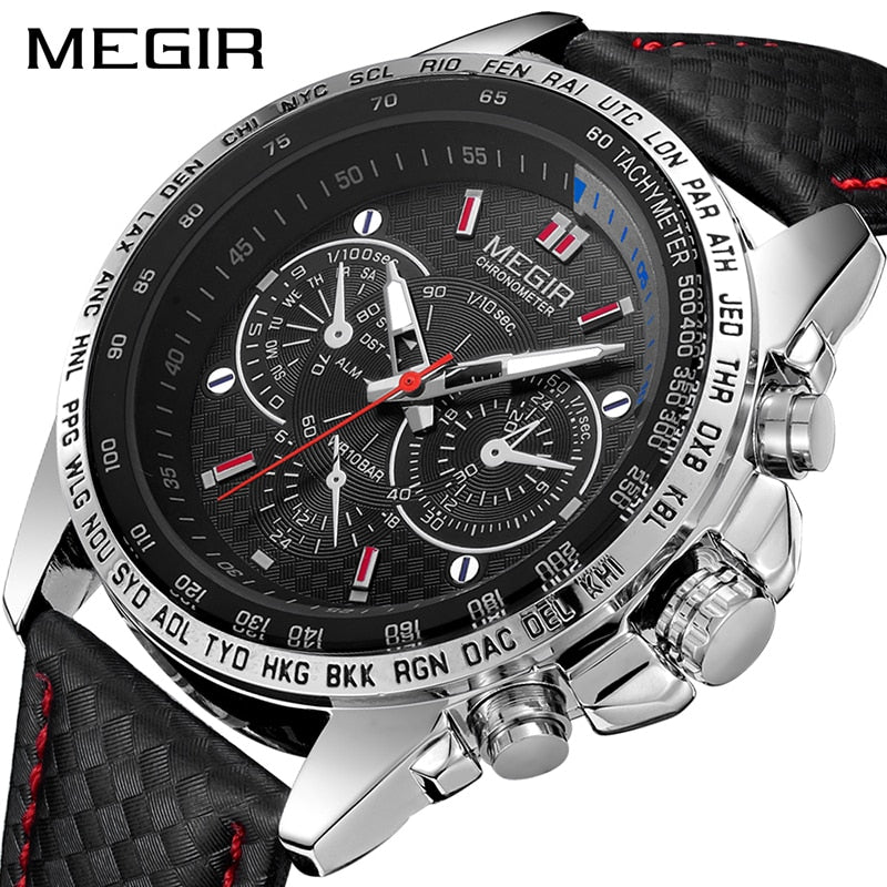 MEGIR Mens Watches Top Brand Luxury Quartz Watch Men