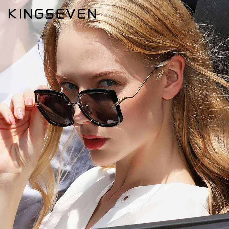 Genuine KINGSEVEN Women's Glasses Luxury Brand Design Sunglasses