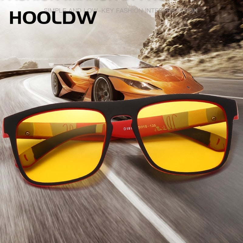 HOOLDW Night Vision Glasses Men Women Polarized Sunglasses