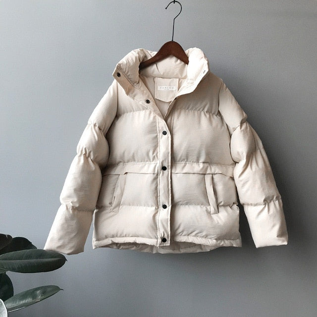fashion solid women's winter down jacket