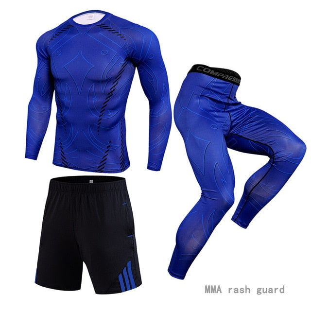 3 piece track suit Men Running sports suit
