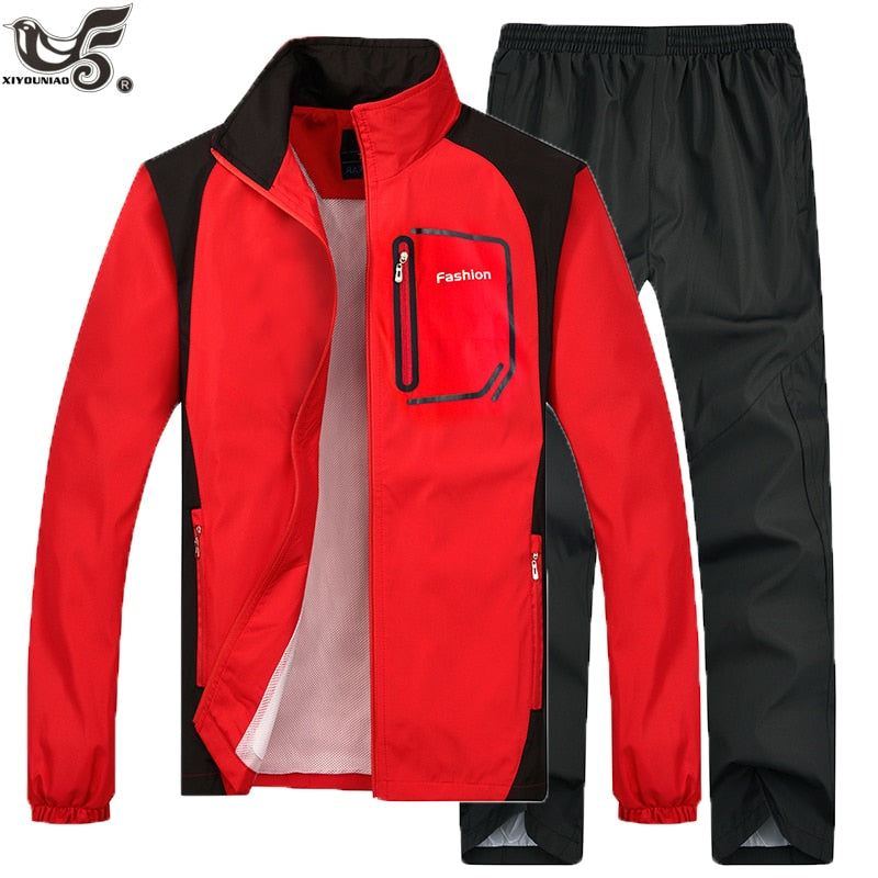 Brand Tracksuit Men Two Piece Clothing Sets Casual Jacket+Pants