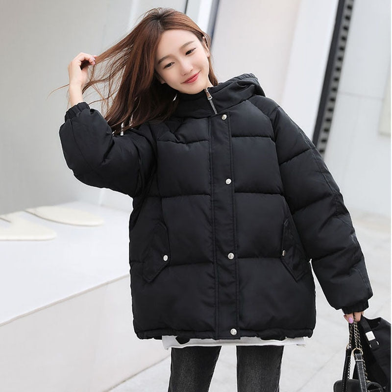 Women's Winters Coats Hooded Winter Bomber Jacket