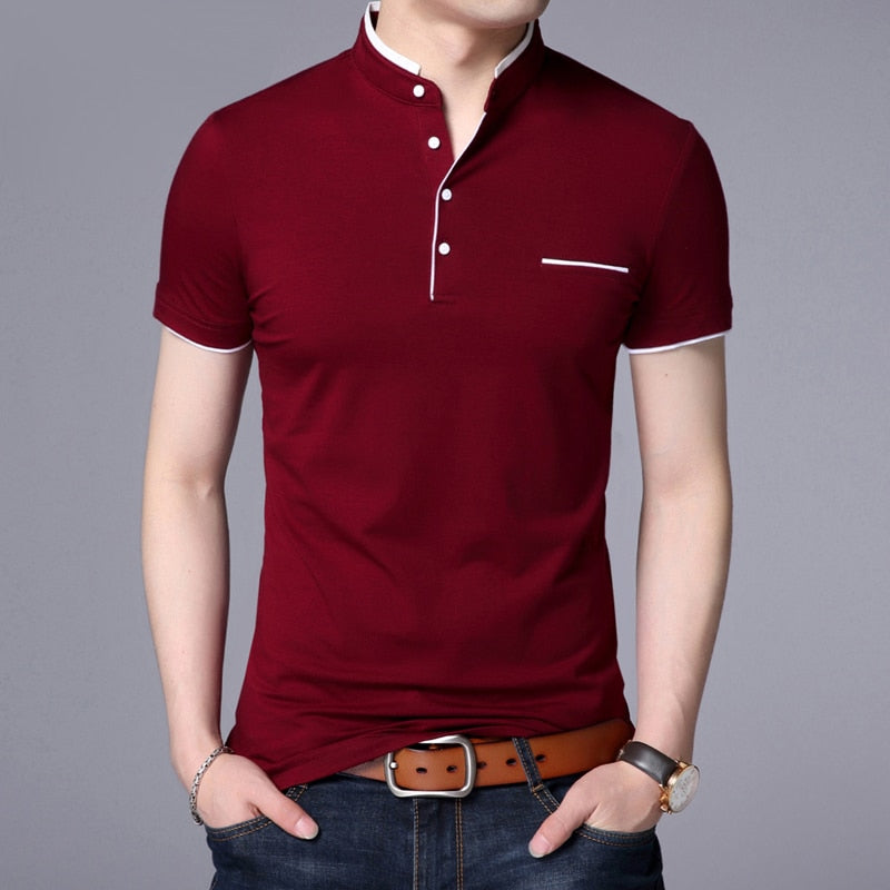 Polo Shirt Men Casual Cotton
