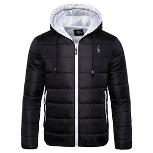 New Waterproof Winter Jacket Men Hoodied