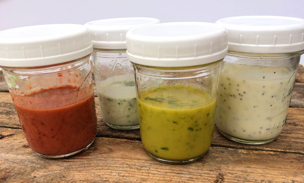 Never Have Another Boring Salad with These 4 Easy Dressings!
