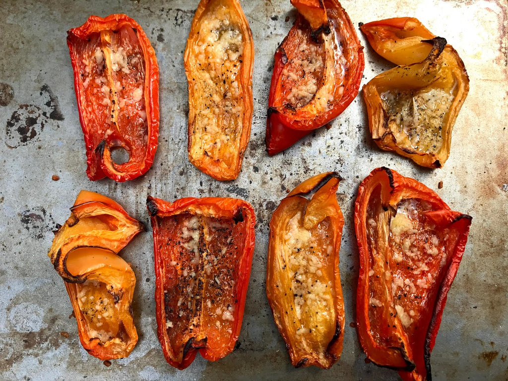 Roasted Peppers- A Super Easy Side Dish