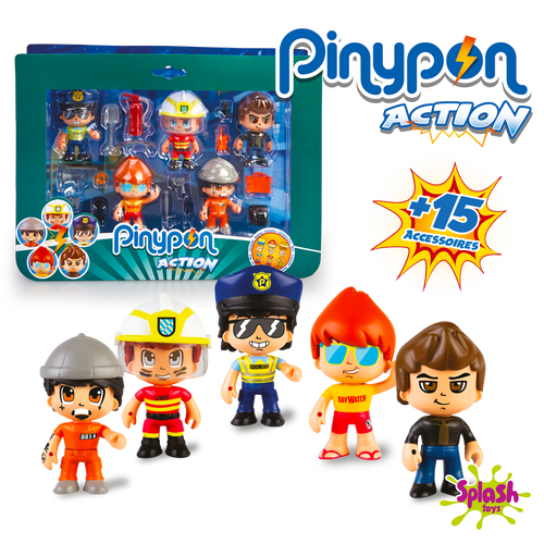 Les 5 figurines Action