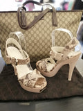 Gucci Python Leather Heels