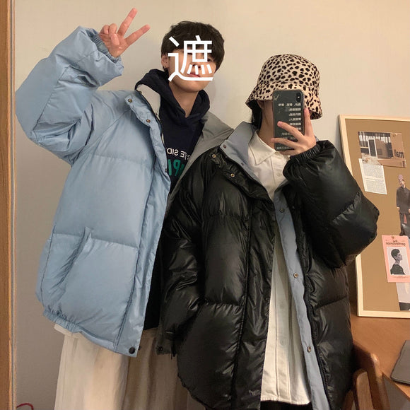 Privathinker Loose Couple Down Jacket 2020 Winter New Men's Casual Oversize Down Jacket Korean Streetwear Man Warm Clothing