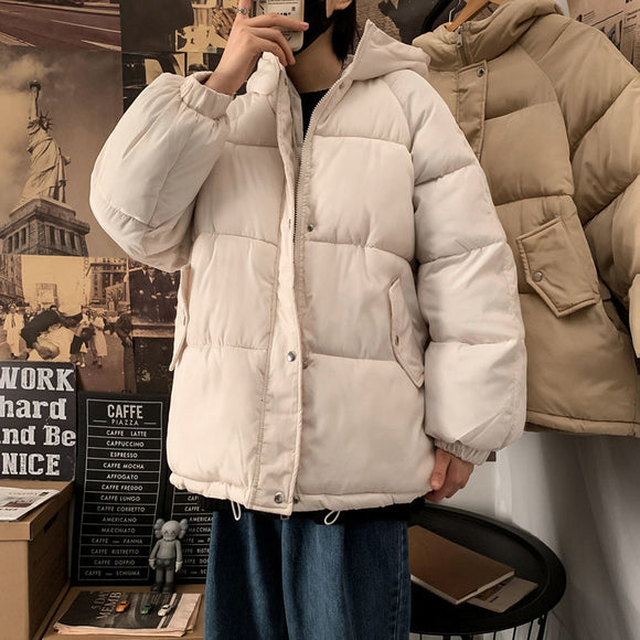 Privathinker Men's Solid Color Parka 2020 Winter New Men Warm Winter Coat Men Thicken Zipper Japanese Style Classic Parkas