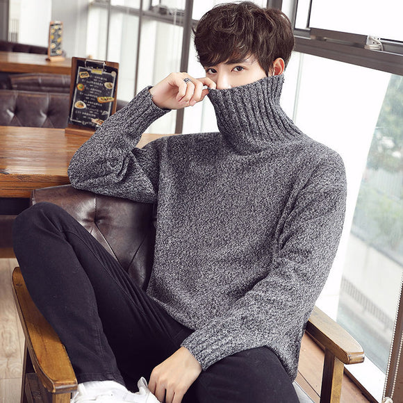 Privathinker Men Winter Warm Sweater Korean Streetwear Fashion Pullovers Sweater Autumn Korean Turtleneck Casual Male Clothing