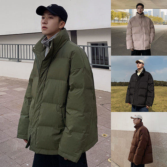 PR Winter Men Casual Solid Color Parka 2020 New Men Warm Streetwear Korean Coat Men Fashion Thicken Zipper Classic Parkas