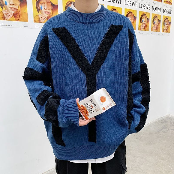Privathinker Men New Fashion Embroidery Sweaters 2020 Autumn  Men's Korean Pullovers  4 Colors Man Streetwear Casual Clothing