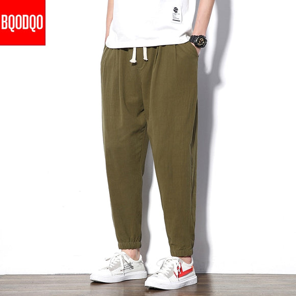 Casual Streetwear Pant Black Autumn Army Green Hip Hop Fitness Military Japan Straight Trousers Men Fashion Joggers Harem Pants
