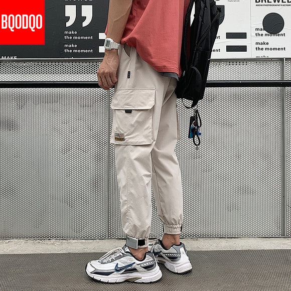 Joggers Casual Pants Men Black Fitness Streetwear Cargo Pants Fashion Military Spring Autumn Hip Hop Baggy Harem Long Trousers