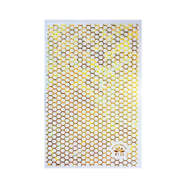 Honeycomb Gold Nail Sticker Sheet