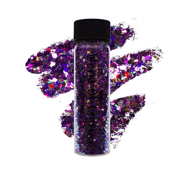 New Orleans Purple Nail Glitter