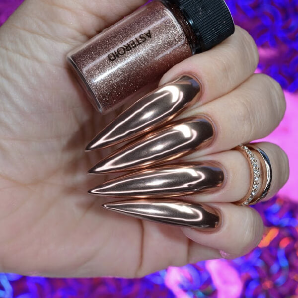 Asteroid Rose Gold Chrome