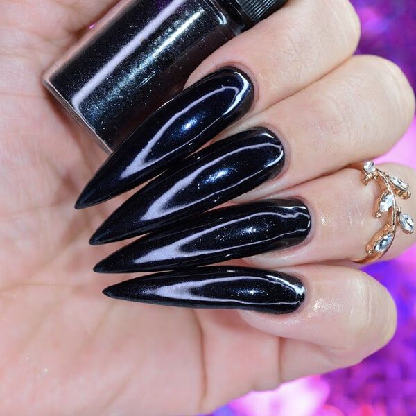 Black Hole Black Nail Chrome