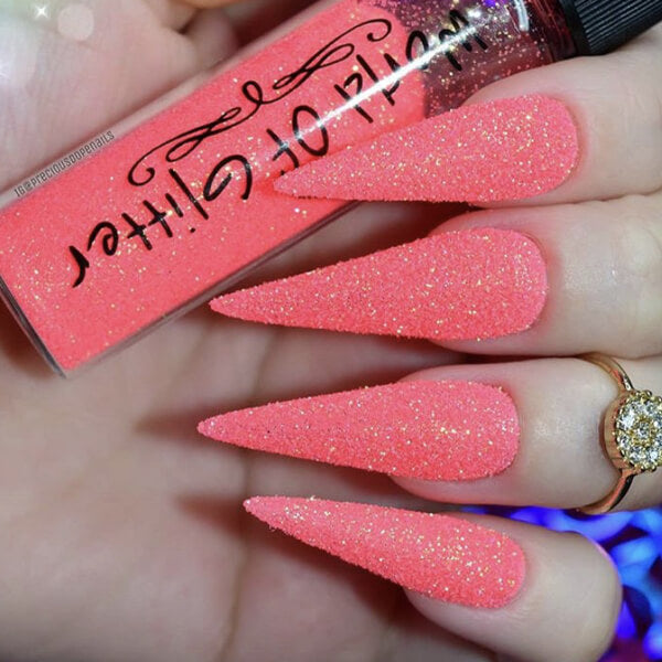 California Orange Nail Glitter