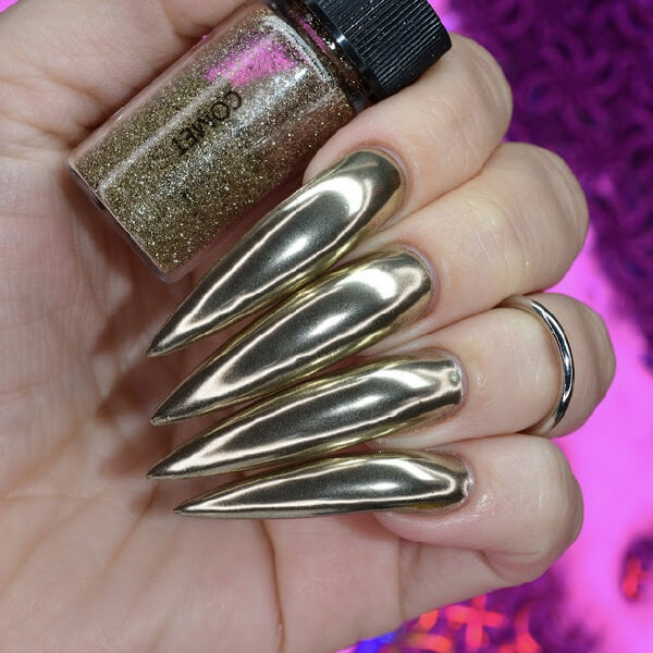 Comet Pale Gold Nail Chrome