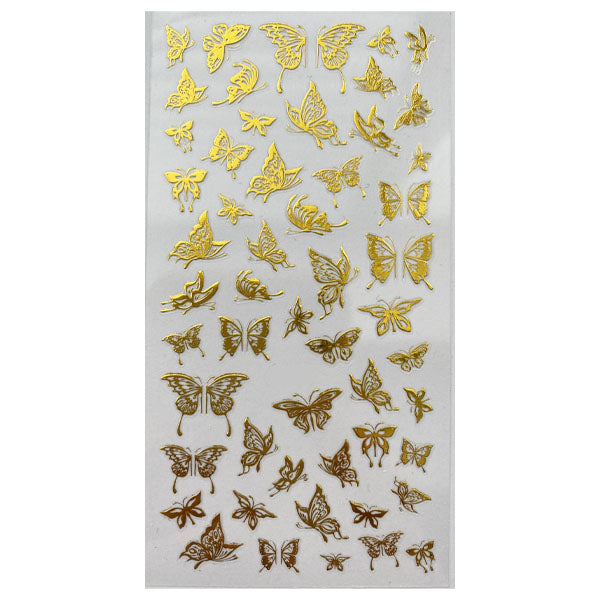 Gold Butterfly Nail Stickers 13