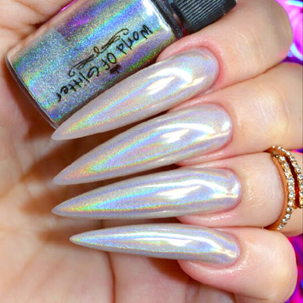 Galaxy Silver Holographic Nail Dust