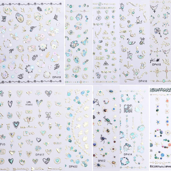 Hearts And Gems Sticker Collection